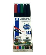 5 Permanent Double Ended Pens Rock Painting  Stones Bricks Glass Arts Cr... - $8.09