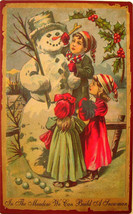 In the Meadow We Can Build a Snowman Christmas Winter Wonderland Metal Sign - $19.95