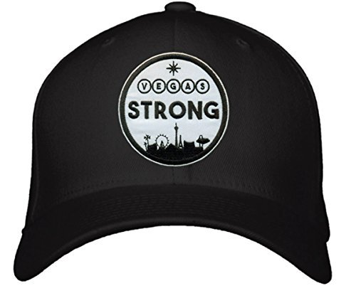 Vegas Strong Hat - Adjustable Mens Black/White - Las Vegas Pride City Skyline