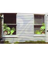 Set of 2 Creepy Baby Frankenstein Window Mural Reusable Halloween Decor - $4.67