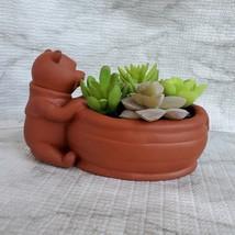 Winnie the Pooh Planter, Disney Animal Bear Redware Ceramic Plant Pot image 4
