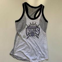 Adidas Tank Top Women's Size XL White Gray Sacramento Kings NBA Basketball - $12.61