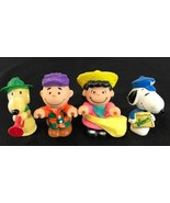 Lot of 4 vintage Peanuts Snoopy figures Charlie Brown Lucy Snoopy 1950 1966 - $17.50