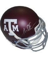 Mike Evans signed Texas A&M Aggies Authentic Schutt Maroon Matte Mini He... - $68.95