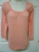 Calvin Klein Jeans Pink Top size XL 3/4 sleeves ✨ activewear Top  ac - $12.86