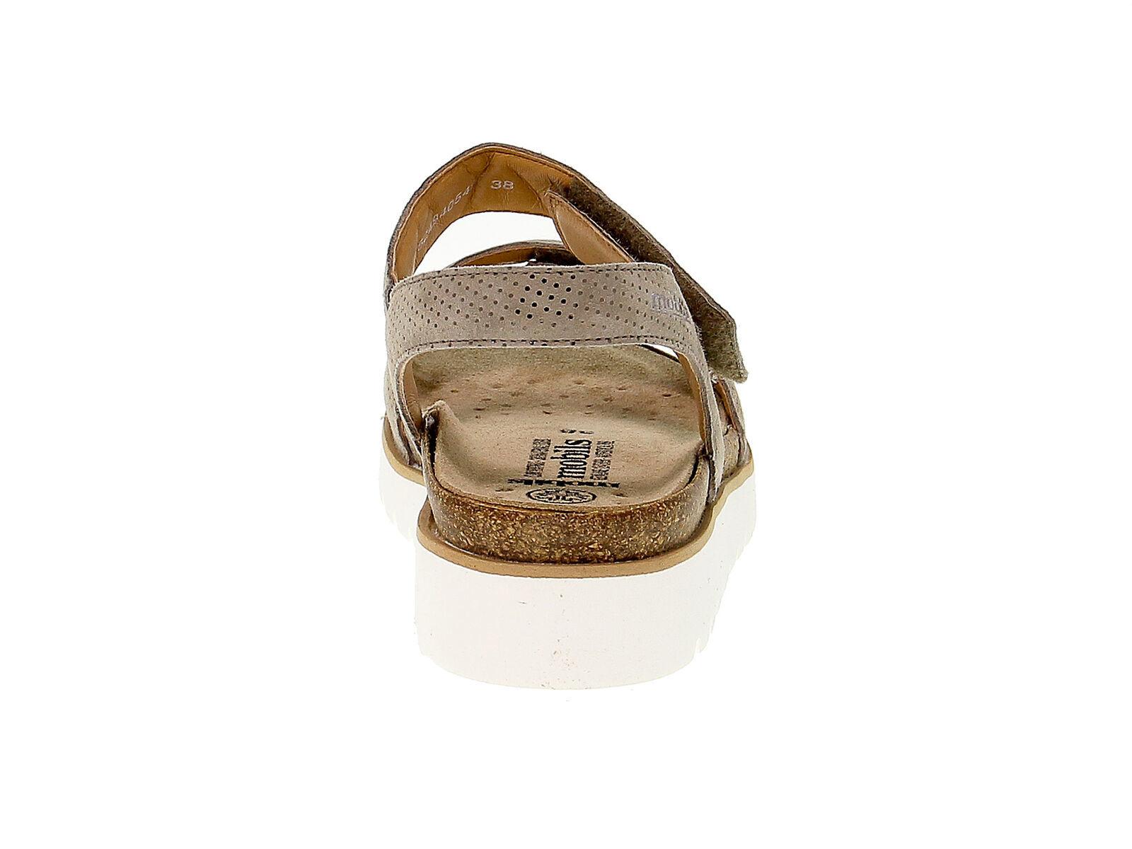 Flache Sandalen MEPHISTO THELMA in cammello nabuk - Schuhe Damen