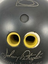 Vintage Brunswick LT-48 JOHNNY PETRAGLIA Bowling Ball Black 15 Lbs 12 Oz - $42.36