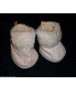 BUILD A BEAR PAIR OF WHITE FUZZY TALL BOOTS FOR YOUR BABW STUFFED ANIMAL... - $8.20