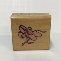 """Comotion Rubber Stamp #164 Pointe Ballet Shoes 1982 Wood-Mounted Vintage 1-5/8"""" - $6.92"""