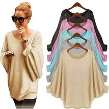 Basic Outerwear Oversize Knitted Pullover For Women - $18.26