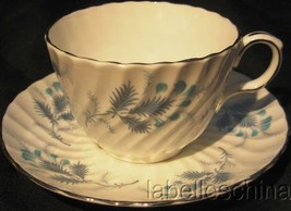 Las Palmas Blue Tea Cup and Saucer 8274 Bone China Made in England by Ay... - $19.95