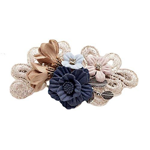 French Barrette Style Hair Barrettes Bowknot Cloth Flower Hair Bow Handmade