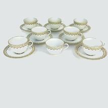 Vintage Royal Worcester England Floral Center Kempsey 8 Tea Cups & 7 Sau... - $102.81