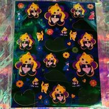 VTG Lisa Frank FULL Sticker Sheet S426 DREAM WRITERS KITTENS BUBBLES 2shipoption
