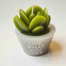 """Succulent Shaped Candles, 2.6"""", Love Grows, Happy Place, Live What You Love image 5"""