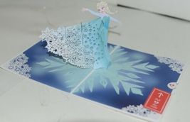 Lovepop LP2101 Disney Frozen Elsa Pop Up Card White Envelope Cellophane Wrapped image 3