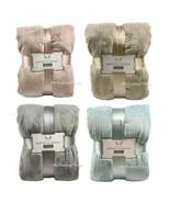 NEW Monte & Jardin Ultra Soft Warm Velvet Blanket Blue/Tan/Rose/Gray Kin... - $49.99+