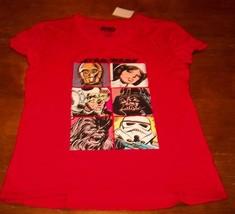 WOMEN'S TEEN STAR WARS Luke Skywalker Princess Leia C-3PO T-shirt LARGE NEW - $19.80
