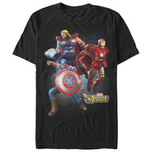 Marvel Strike Force Character Trio Mens Graphic T Shirt - £8.81 GBP