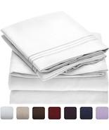 Mellanni Bed Sheet Set - Brushed Microfiber 1800 Bedding - Wrinkle, Fad... - £45.27 GBP