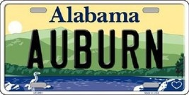 "NCAA Auburn Tigers License Plate State Background Metal Tag  ""U.S.A."" War Eagle - $10.64"