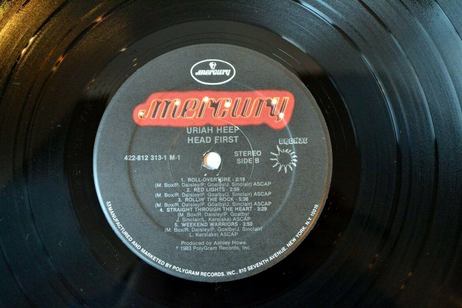 Uriah Heep Head First Vinyl Record 1983 Mick Box Bob Daisley Lee Kerslake Goalby
