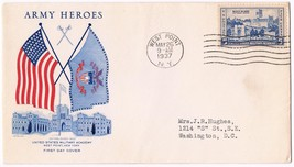1937 Army Heroes 5c Issue West Point Academy 789 FDC Grimsland - $7.92