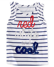 Epic Threads Little Girls' Red, White & Cool Stripe-Print Tank,Size 6 - $9.49