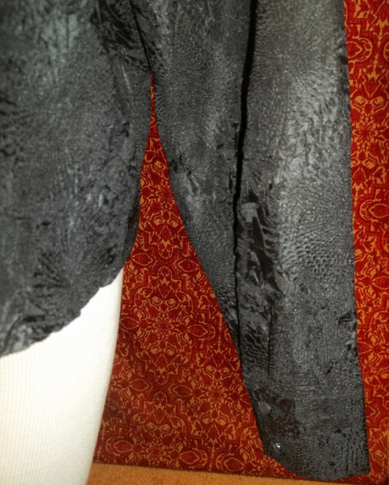 KORET black wrinkle polyester long sleeve blouse 16 (T45-03G8G) image 7