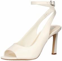 Vince Camuto Heeled Peep Toe Sandals - Rateema Natural White 7 M - $69.29