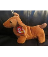 Ty Beanie Baby Weenie the Red Dachshund 4th Gen. Hang Tag 3rd Gen. Tush Tag - $26.72