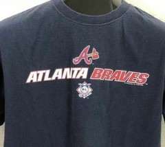 Atlanta Braves Blue Short Sleeve T-Shirt Majestic MLB Baseball Men's Size M - $7.42