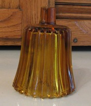 Vintage HOMCO Votive Cup Candle Holder AMBER Stripe Home Interiors - $3.26