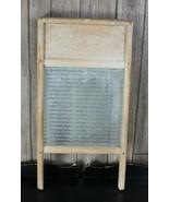 Vintage Wood Glass Washboard - $24.74