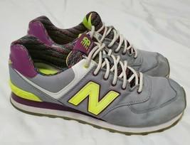 New Balance 574 Women's Size 10 Gray Purple Yellow Street Beat WL574SBF - $28.04