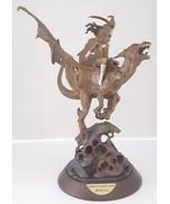 """Franklin Mint Bronze Statue Sculpture Figurine """"Maiden of The Golden Sword"""" - $346.49"""
