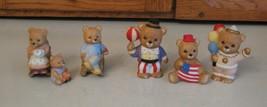 6 Pc LOT Homco Home Interiors Bear Family Two Sets 1470 & 1449 + 1413 Vi... - $5.93
