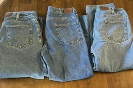 3-L.L. Bean Flannel Lined Jeans Men's 36x29 Lot Set EUC Outdoor Hiking C... - $50.48