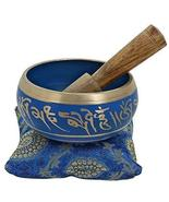 4 Inches Hand Painted Metal Tibetan Buddhist Singing Bowl Musical Instru... - £19.19 GBP