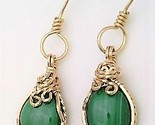 Malachite gold wire wrap earrings 13 thumb155 crop