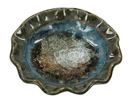 Down To Earth Pottery Pretty Little Dish Votive Holder Moss - $15.84