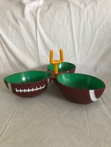 Football Condiment Party Dish Dip Tray THE BIG GAME Durable Plastic 3 Bo... - ₨1,195.95 INR
