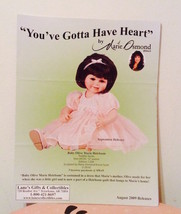 MARIE OSMOND Doll Flyer (Lane's Gifts 4-pages) & The Doll Market Catalog... - $9.90