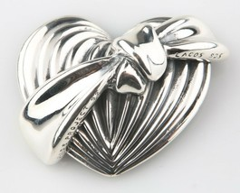 Lagos Caviar Sterling Silver AIDS Project Heart Ribbon Brooch 1992 - $491.98