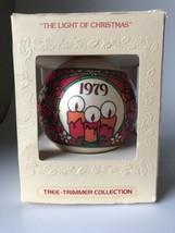 Vintage 1979 Hallmark The Light of Christmas Glass Ornament with Original Box - $19.79