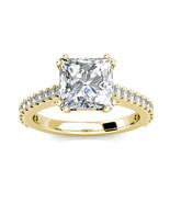 3.20Ct Corte Princesa&Diamante Anillo Compromiso Boda 14K Oro Amarillo M... - $1,995.07