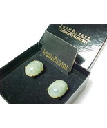 JOAN RIVERS Classics Collection Large Green Stone Cabochon Clip-on EARRINGS - $49.95