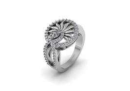 Pear and Round Cut 0.70cttw Simulated White Diamond Unique Engagement Ring Women - $1,159.99