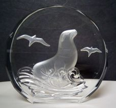 """SEAL """"Wildlife Crystals"""" The Danbury Mint - made in W. Germany - 3 1/4 i... - $25.00"""