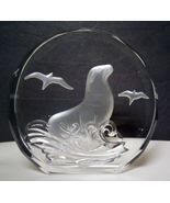 "SEAL ""Wildlife Crystals"" The Danbury Mint - made in W. Germany - 3 1/4 i... - $30.00"